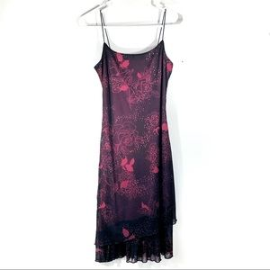 My Michelle Black Red Glittery Formal Dress Small